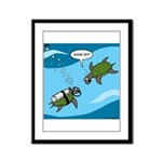 Seaturtle SCUBA Framed Panel Print