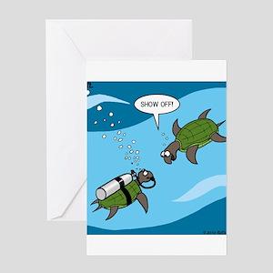 Seaturtle SCUBA Greeting Card