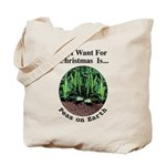 Xmas Peas on Earth Tote Bag