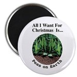 "Xmas Peas on Earth 2.25"" Magnet (10 pack)"