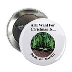 "Xmas Peas on Earth 2.25"" Button (100 pack)"