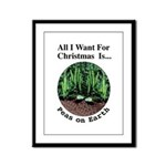 Xmas Peas on Earth Framed Panel Print