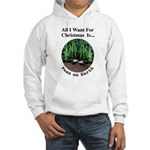 Xmas Peas on Earth Hooded Sweatshirt