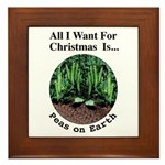 Xmas Peas on Earth Framed Tile