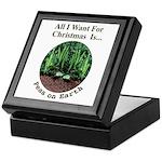 Xmas Peas on Earth Keepsake Box