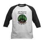 Xmas Peas on Earth Kids Baseball Jersey