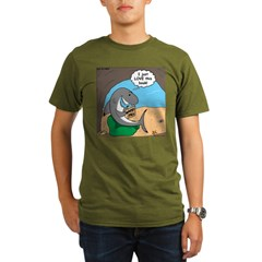 Shark Favorite Book Organic Men's T-Shirt (dark)