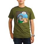 Shark Favorite Book Organic Men's T-Shirt (dark)