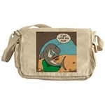 Shark Favorite Book Messenger Bag