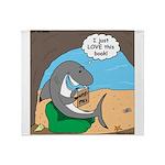 Shark Favorite Book Throw Blanket