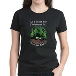 Xmas Peas on Earth Women's Dark T-Shirt