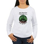 Xmas Peas on Earth Women's Long Sleeve T-Shirt