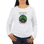 Xmas Peas on Earth Women's Long Sleeve T-Shirt