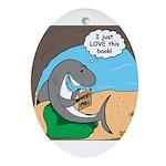 Shark Favorite Book Ornament (Oval)
