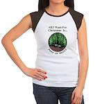 Xmas Peas on Earth Women's Cap Sleeve T-Shirt