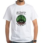 Xmas Peas on Earth White T-Shirt