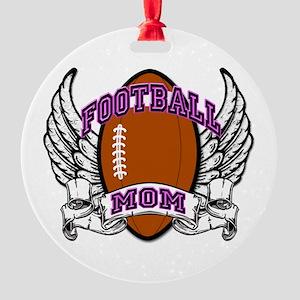 Football Mom Round Ornament