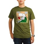 Whale Favorite Book Organic Men's T-Shirt (dark)