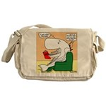 Whale Favorite Book Messenger Bag