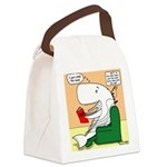 Whale Favorite Book Canvas Lunch Bag