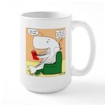 Whale Favorite Book Large Mug
