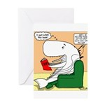 Whale Favorite Book Greeting Card