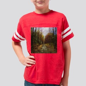 old rail road trail Youth Football Shirt