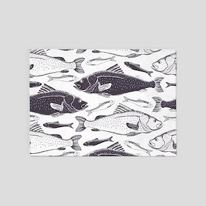 Fish Pattern 5'x7'Area Rug