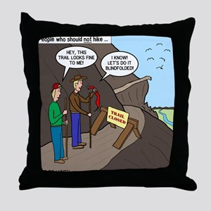 Trail Closed Throw Pillow