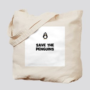 save the penguins Tote Bag