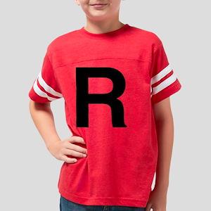 helvetica_r_black Youth Football Shirt