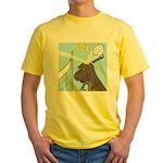 T-Rex Volleyball Yellow T-Shirt