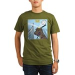 T-Rex Volleyball Organic Men's T-Shirt (dark)