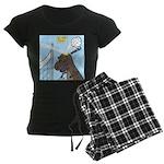 T-Rex Volleyball Women's Dark Pajamas