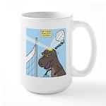 T-Rex Volleyball Large Mug