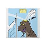 T-Rex Volleyball Throw Blanket