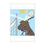 T-Rex Volleyball Mini Poster Print