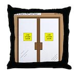 Closing a Mini-Mart Throw Pillow