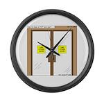 Closing a Mini-Mart Large Wall Clock
