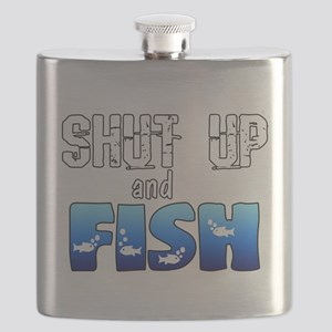 Shut Up and Fish Flask