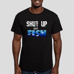Shut Up and Fish Men's Fitted T-Shirt (dark)