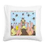 Viking Graduation Square Canvas Pillow