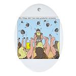 Viking Graduation Ornament (Oval)
