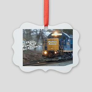 Railfan Nation Picture Picture Ornament