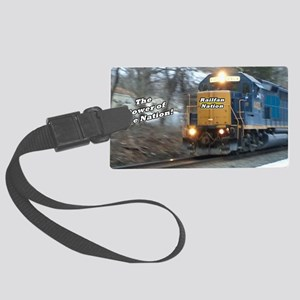 Railfan Nation Picture Large Luggage Tag