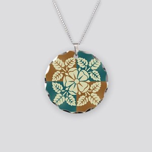 TEAL & TERRA TILE Necklace Circle Charm