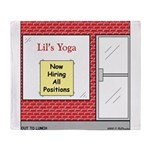 Yoga Now Hiring All Positions Throw Blanket