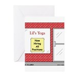 Yoga Now Hiring All Positions Greeting Cards (Pk o