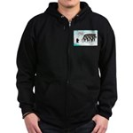 Penguin Mothers Day Zip Hoodie (dark)