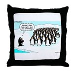 Penguin Mothers Day Throw Pillow